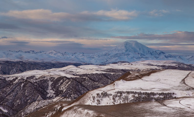Russia, the Caucasus Mountains, Kabardino-Balkaria. Mount Elbrus