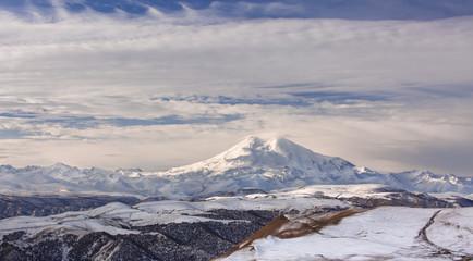 Russia, the Caucasus Mountains, Kabardino-Balkaria. Mount Elbrus