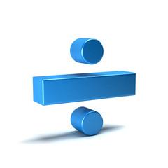 Divide Math Symbol. 3D Rendering Illustration