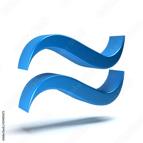Approximately Equal Math Symbol 3d Rendering Illustration Stock