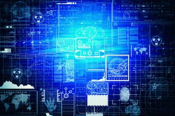dark blue Light Abstract Technology background