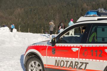 Paramedics and Ambulance in Winter Scenery 2
