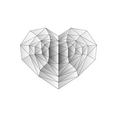 Abstract geometric heart.