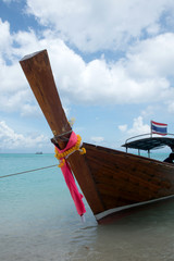 Thai longtail boat on  Thailand