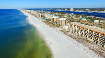 PANAMA CITY, FL - FEBRUARY 2016: Aerial view of coastline. Panam