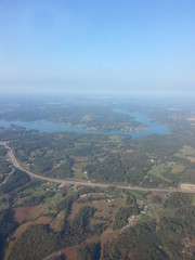 Arial View flying over Washington