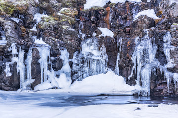 Frozen River in Iceland's highlands