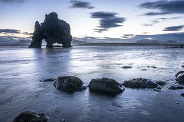 Dinosaur Rock Beach in Iceland