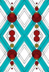 Tartan texture geometric shapes