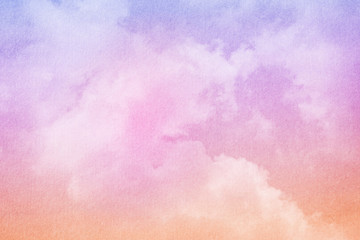 soft cloud and sky with pastel gradient color and grunge texture, abstract background