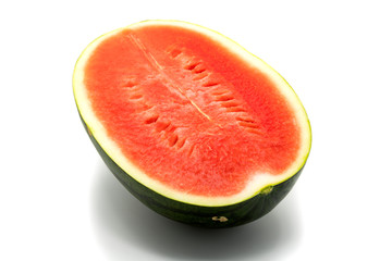 Half of ripe watermelon