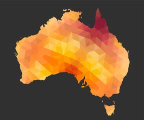 The Australia Map of Polygonal Style