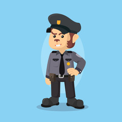 monkey police officer illustration design