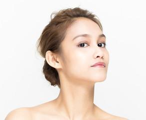 beauty image of young girl, half latina and half asian