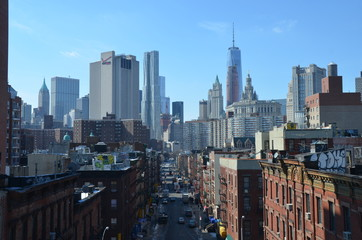 Cityscape view of Manhattan, New York City, USA.