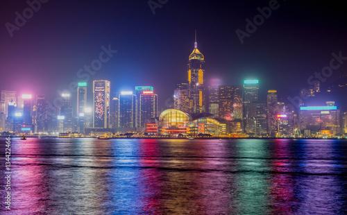 Гонконг архитектура ночь город страны  № 2229807 без смс