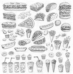 Vector set fast food
