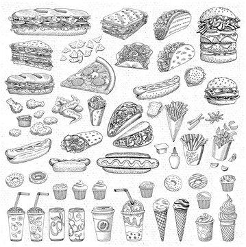 Vector set fast food