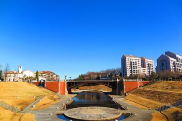 冬の晴天の公園の風景10