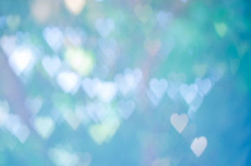 Abstract heart shape bokeh for use as background