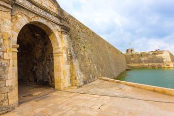 Jaffna Fort Entrance Door Rampart Wall Moat