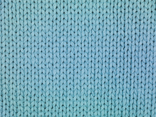 blue sweater, stitch close up