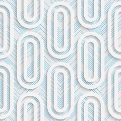 Seamless Ellipse Design. Futuristic Tile Pattern