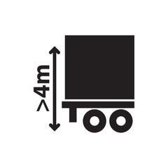 cargo height icon illustration