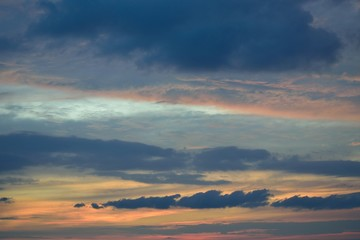 sky after sunset  with cloud and colorful