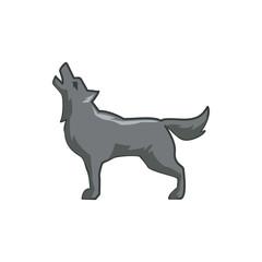 wolf icon illustration