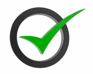 green Correct mark symbol