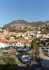 Camara de Lobos - traditional fishing village, situated five kilometres from Funchal on Madeira. Portugal