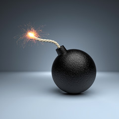 bomb with spark