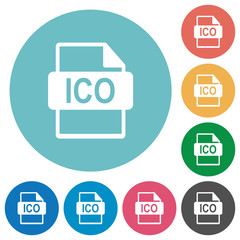 ICO file format flat round icons