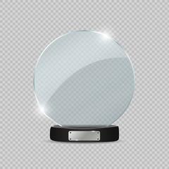 Glass Trophy Award. Vector illustration