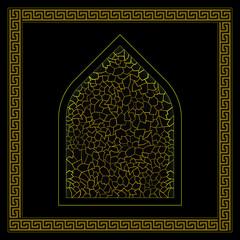 Black and gold turkish hamam ornament