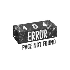 Error 404 page concept with brick. Vector Isolate on white background