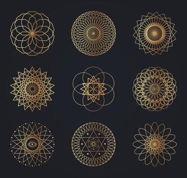 Sacred geometry symbols.