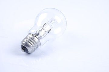 Bulb, concept of ideas. Over exposed image.