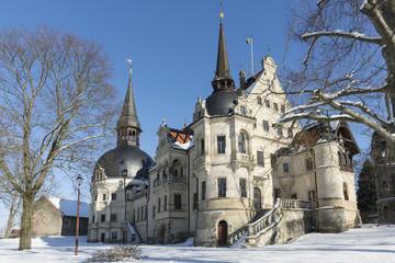 Winter, Schloss Schönfeld, Sachsen