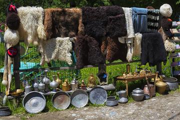Souvenir shop in the Caucasian mountains