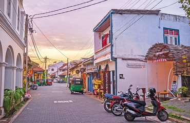 Galle at sunset