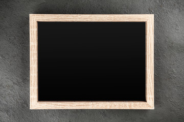 Picture frame on a grey wall