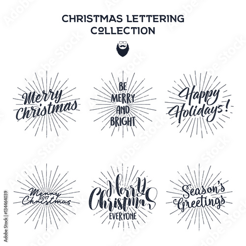 Set of christmas new year 2017 lettering wishes sayings and set of christmas new year 2017 lettering wishes sayings and vintage labels m4hsunfo