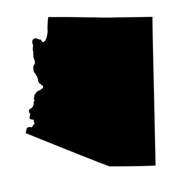 map of the U.S. state Arizona
