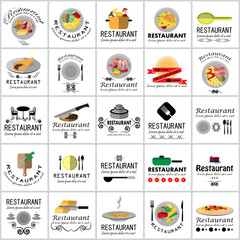 Food Icons Set-Isolated On White Background.Vector Illustration,Graphic Design.For Web Site,App,Print,Presentation Templates,Mobile Applications And Promotional Materials.Top View Concept,Text Letter