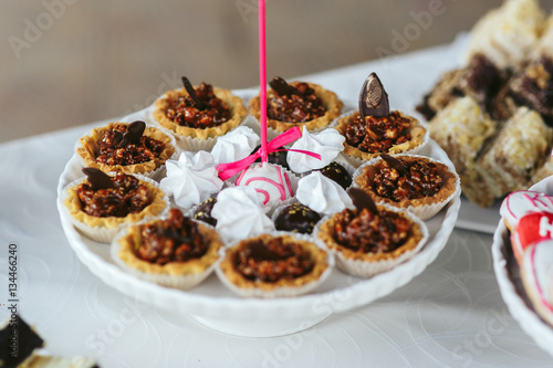 Delicious Cupcakes And Cookies With Text At Wedding Reception Cl