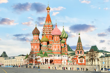 Printed kitchen splashbacks Moscow Moscow,Russia,Red square,view of St. Basil's Cathedral