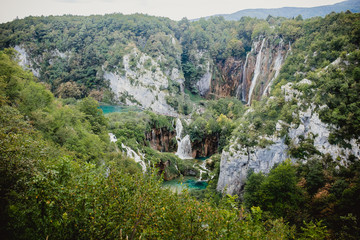 waterfall nature croatia water plitvize