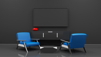 tv display 3d rendering